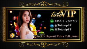 Toto 4D Deposit Pulsa Telkomsel